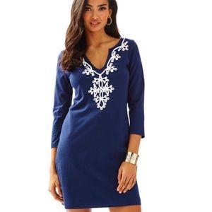 Lilly Pulitzer navy V-neck navy dress
